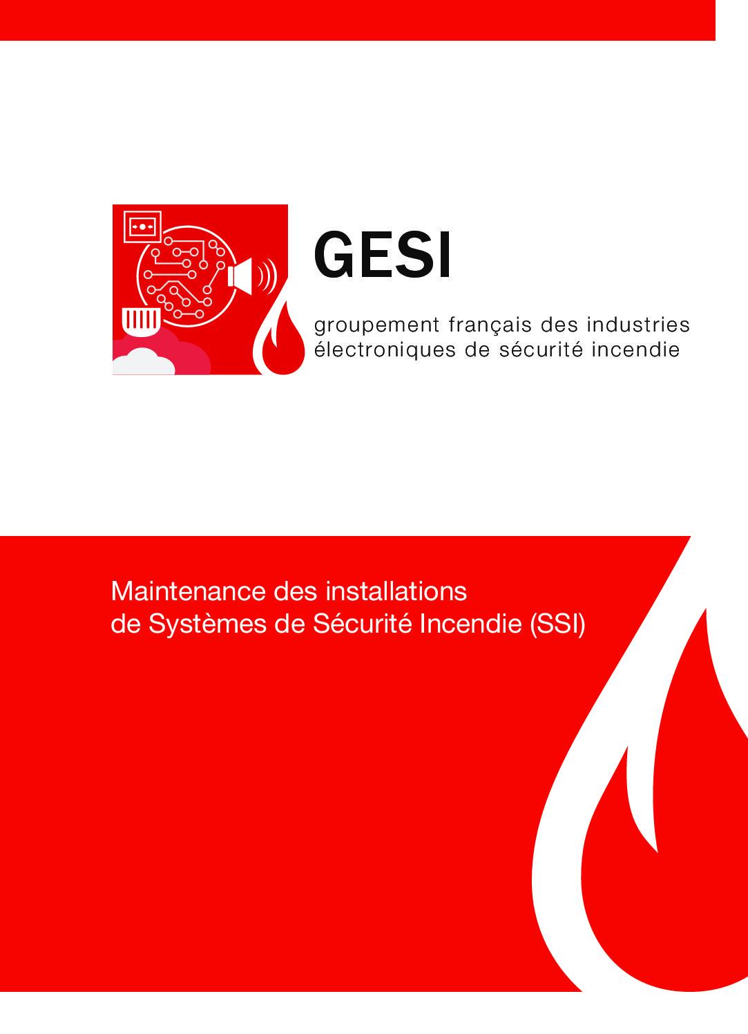 Plaquette GESI - MAINTENANCE DES INSTALLATIONS DE SYSTÈMES DE SÉCURITÉ INCENDIE (SSI)